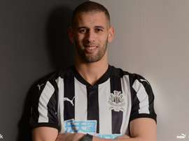 Slimani signed in January. Newcastle