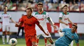 Smolov abrió la lata en la goleada del Lokomotiv ante el Ural. Twitter/FCLokomotiv