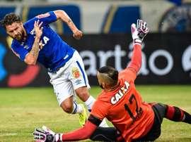 Sobis, en su debut con Cruzeiro. Twitter