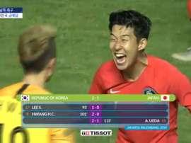 Corea del Sur ganó los Juegos Asiáticos. Captura/SBS
