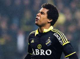 Sonko Sundberg, en un partido con el AIK Solna. AIK
