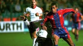 Sonny Anderson recuerda la etapa de Van Gaal en el Barcelona. AFP