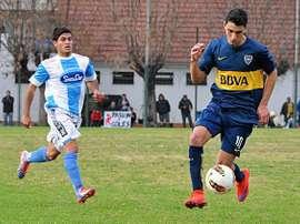 Soñora, durante un partido con Boca Juniors. Twitter