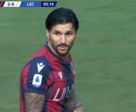 Soriano marcó el 2-0. Captura/SetantaLive