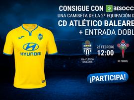 Consigue una camiseta del Atlético Baleares y una entrada doble ante el Racing de Ferrol. BeSoccer