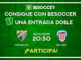 Sorteo de una entrada doble para el Málaga-Lugo.BeSoccer