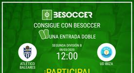 Consigue una entrada doble para el Atlético Baleares-Ibiza. BeSoccer