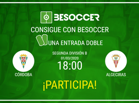 Consigue una entrada doble para el Córdoba-Algeciras. BeSoccer