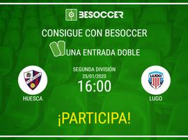 Consigue una entrada doble para el Huesca-Lugo. BeSoccer