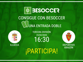 Consigue una entrada doble para el Illueca-Deportivo Aragón. BeSoccer