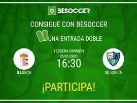 Consigue una entrada doble para el Illueca-SD Borja. BeSoccer