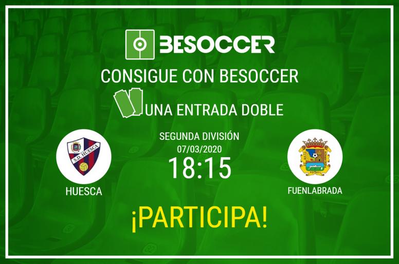 Consigue una entrada doble para el SD Huesca-Fuenlabrada. BeSoccer