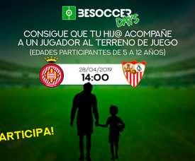 Sorteo Escort Kids Girona FC - Sevilla FC 18-19. BeSoccer