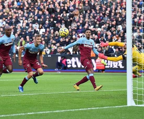 El West Ham no supo aprovechar la renta y terminó empatando ante el Brighton. Twitter/WestHam