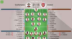 Southampton vs Arsenal, Premier League, 26/01/2021, official lineups. BeSoccer