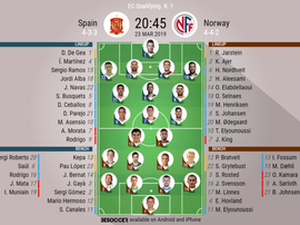 Spain v Norway, Euro 2020 Qualifiers, GW1 - Official line-ups