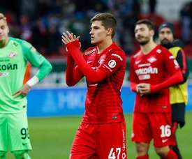 El Spartak de Moscú va reconduciendo su trayectoria. Twitter/fcsm_oficial
