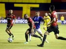 Sport e Cruzeiro empataram a uma bola na segunda ronda do Brasileirão. Twitter