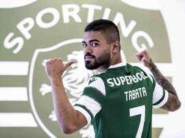 Sporting confirmou a contratação de Bruno Tabata. Twitter/Sporting_CP