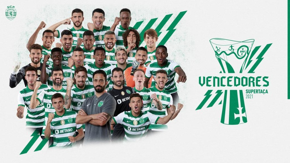 Sporting vence a Supertaça.Twitter/Sporting_CP