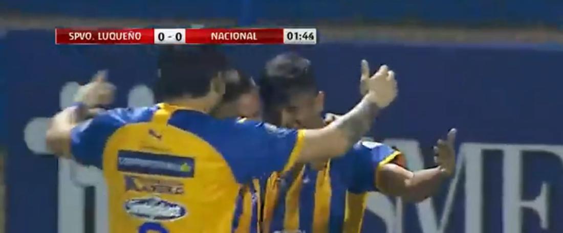 Luqueño certificó su pase a los cuartos de final de la Copa Paraguay 2019. Captura/TIGOSports