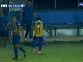 Sportivo Luqueño salvó un punto a escasos segundos del pitido final. Captura/TIGOSports