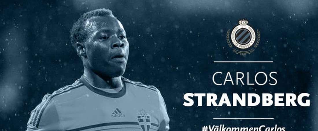 Carlos Strandberg ficha por el Brujas. ClubBrugge