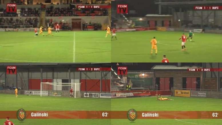 Stefan Galinski marcó uno de los goles del año. Twitter/Basfordutdfc