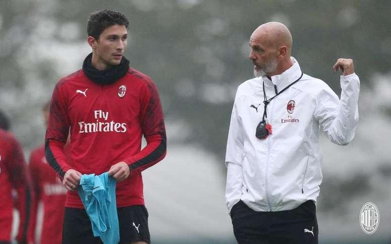 Stefano Pioli, feliz en Milán. ACMilan