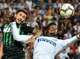 Sassuolo fixe le prix de Sensi. cible de Milan. AFP