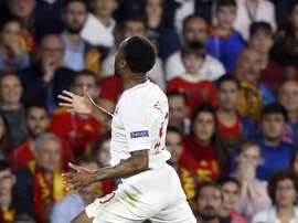 Sterling adds a hat-trick to his international achievements. EFE