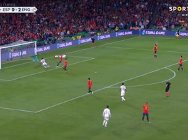 Sterling nets England's third. Captura/SportTV