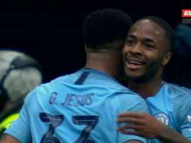 Sterling vole le but de Gabriel Jesus. Capture/ESPN2