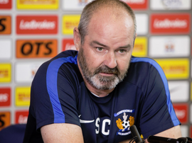 Steve Clarke has received a two-match touchline ban following his comments. Twitter/KlimarnockFC