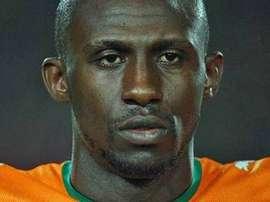 Steve Gohouri, en un encuentro con la Selección de Costa de Marfil. Twitter
