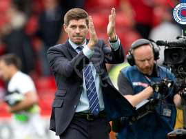 Gerrard is taking it slow. Twitter/Rangers