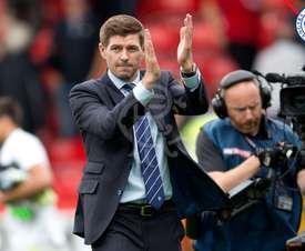 McLeish believes that Gerrard inspires his players. Twitter/RangersFC