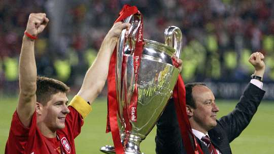 Steven Gerrard was the captain of Benitez's Champions League-winning Liverpool side. Twitter