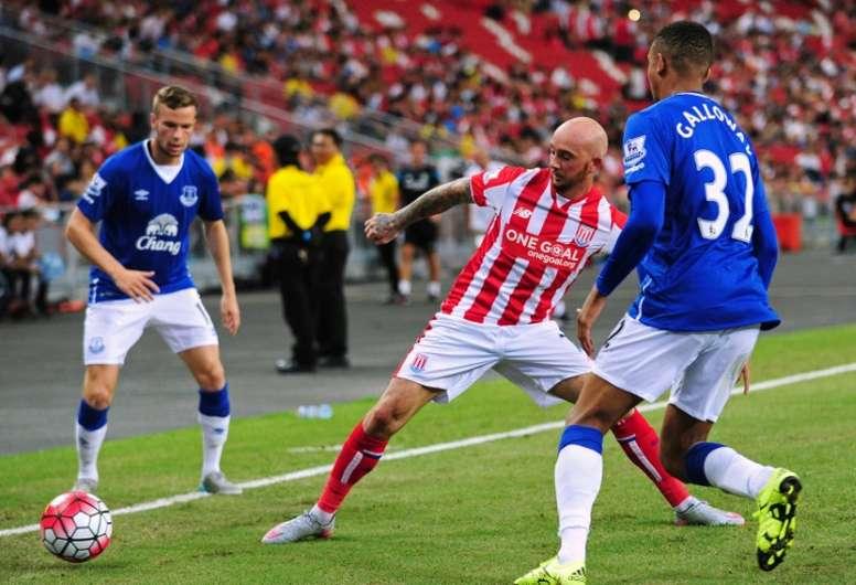 Stephen Ireland renueva con el Stoke. AFP