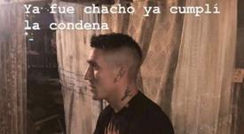 Centurión mandó otro mensaje a Coudet. Instagram/adrianricardo1993