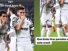 Dani Alves e Dybala relembraram seu passado na Juve. Capturas/Instagram/danialves/paulodybala