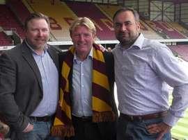 Stuart McCall, nuevo entrenador del Bradford City. BradfordCity