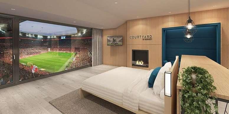 Los aficionados podrán disfrutar muy cómodos de los partidos en el Allianz Arena. Twitter