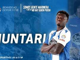 Muntari joins Seedorf at Deportivo. Twitter/RCDeportivo