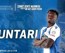 Muntari joins Seedorf at Deportivo. Twitter/RCDeportivo