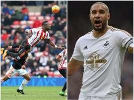 Sunderland's Lamine Kone and Swansea's Ashley Williams. BeSoccer