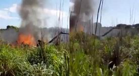 Un accidente de avión se cobra la vida de varias personas. Capturas/Globoesporte