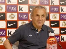 Svanadze, técnico del Inter Bakú, reconoce el buen juego del Athletic. Twitter