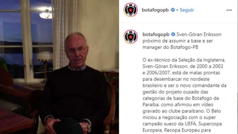 Uma lenda do futebol mundial no nordeste brasileiro. Instagram/botafogopb