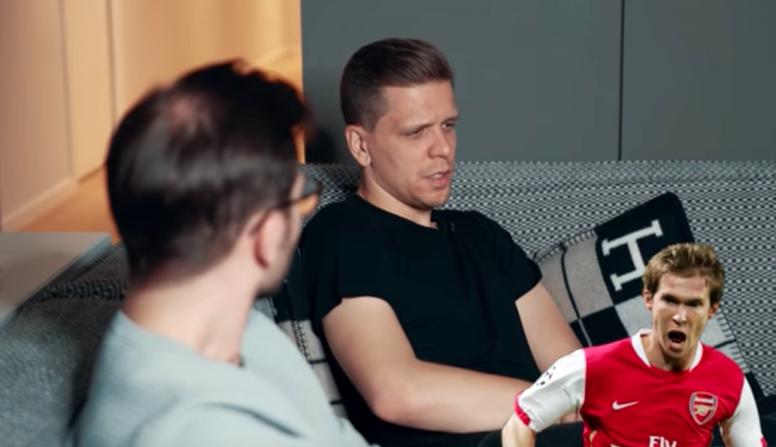 Szczesny parle de Van Persie, Hleb et Nasri. Youtube/FootTruck